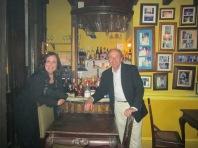 Web and Michelle in La Guarida, Havana